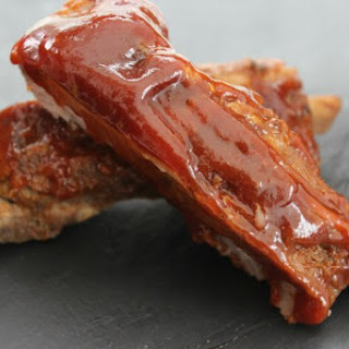Slow Cooker Applesauce BBQ Spareribs