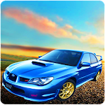Rally Car 3D Driving Icon