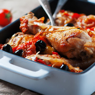 One Chicken 3 Family Meals – Spanish Tray Bake Chicken.