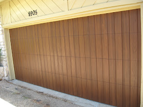 Photo: This is a San Jose style door with Clear Cypress panels and walnut coloring.