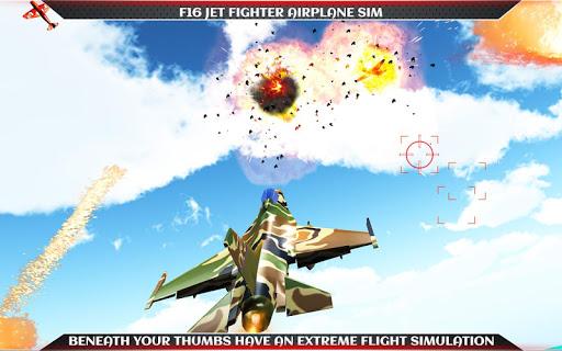 F16 Jet Fighter Airplane Sim