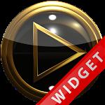 Poweramp Widget blackgold Icon