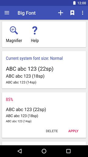 dimensione font