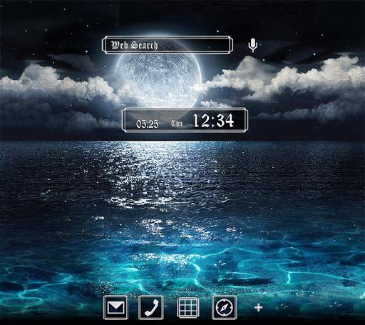 Full Moon Over the Sea Theme 1.0.1 Windows u7528 1