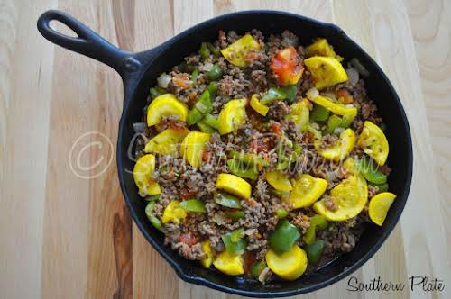 """Click Here for Recipe: Garden Skillet Supper """"This is a simple go..."""