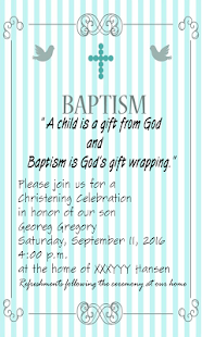 Baptism invitation maker android apps on google play baptism invitation maker screenshot thumbnail baptism invitation maker screenshot thumbnail stopboris Choice Image