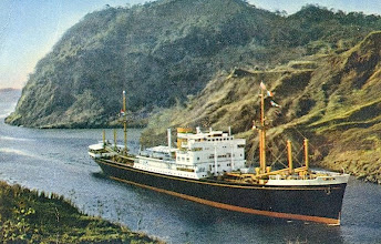 Photo: DALERDYK  passing the Panama Canal  Holland-America Line