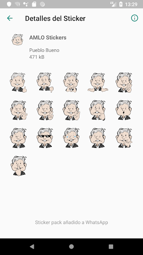 Screenshot for AMLO Stickers in United States Play Store