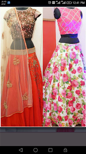 Crop Tops and Long Skirt Designs - náhled
