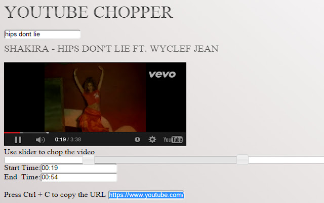 Youtube Chopper