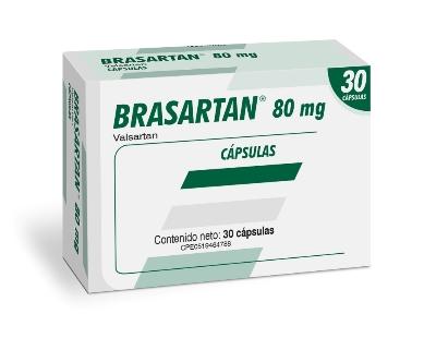 Valsartan Brasartan 80mg x 30 Capsulas