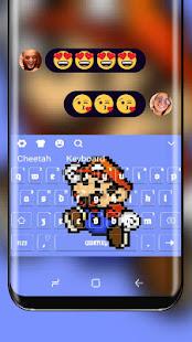 Pixel Mario keyboard
