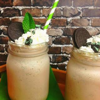 Cookies 'N Cream Mint Chocolate Milkshake.