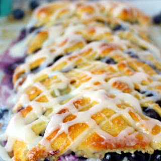Blueberry Cream Cheese Breakfast Braid.