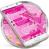 SMS Messages Sparkling Pink Theme