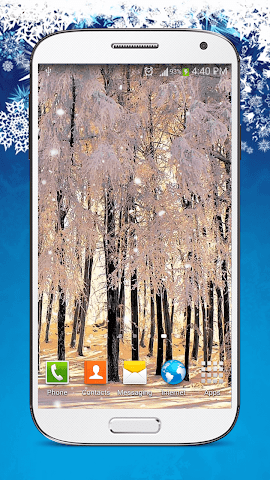 android Snow Live Wallpaper HD Screenshot 4