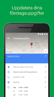 Google My Business– miniatyr av skärmdump