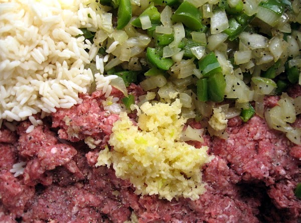 MEAT MIXTURE: Season the meat and mix well with your hands, squeezing meat through your...