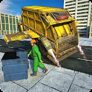 Flying Garbage Truck, Dump Truck Driving Simulator