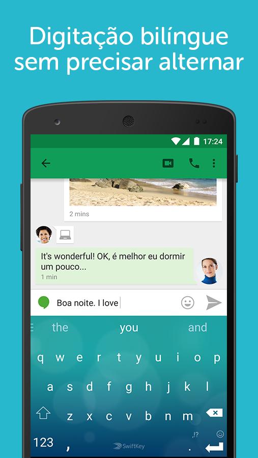 Teclado SwiftKey + Emoji: captura de tela