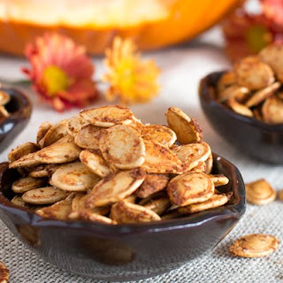 Roasted Cajun Pumpkin Seeds.