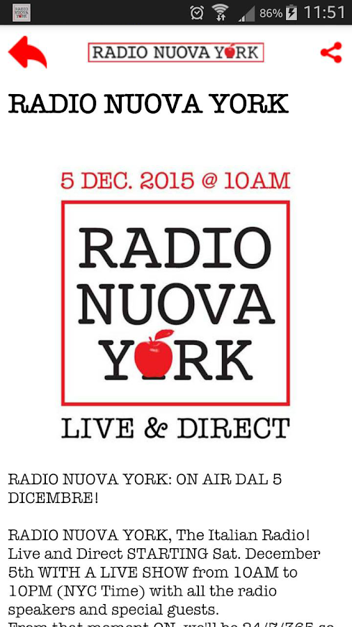 Radio Nuova York- screenshot