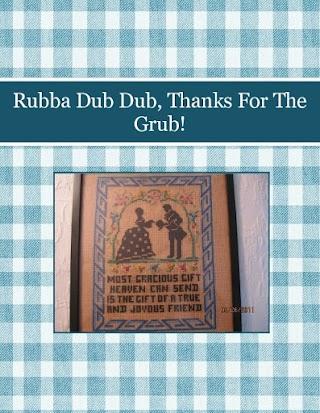 Rubba Dub Dub, Thanks For The Grub!