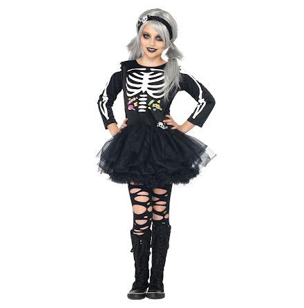 Barndräkt, skelettklänning 122/128 cl