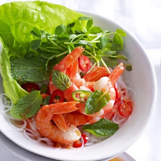Chilli Prawn Salad With Noodles.