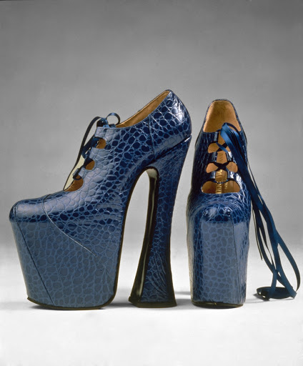 Pair of platform shoes