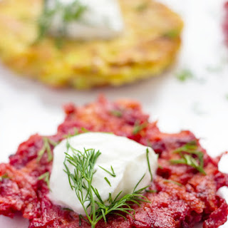 Beet And Zucchini Fritters