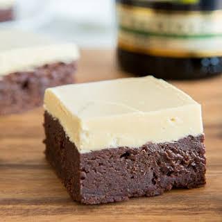 Irish Cream Brownies with Caramelized White Chocolate Buttercream.