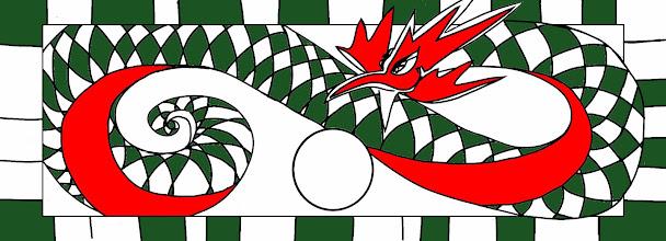 Photo: Basilisk Tenugui Rot-Grün; Inge