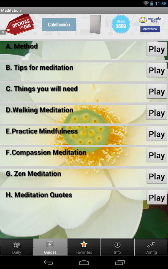 Meditation - Method and Quotes- screenshot