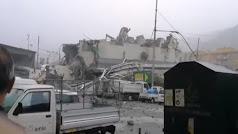 Imagen del accidente ocurrido en Génova.