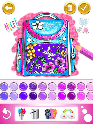 Glitter dress coloring and drawing book for Kids screenshot 10