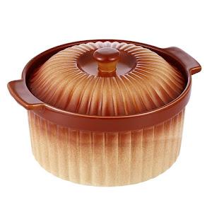 Cratita ceramica Vebene 2 L, capac, Maro