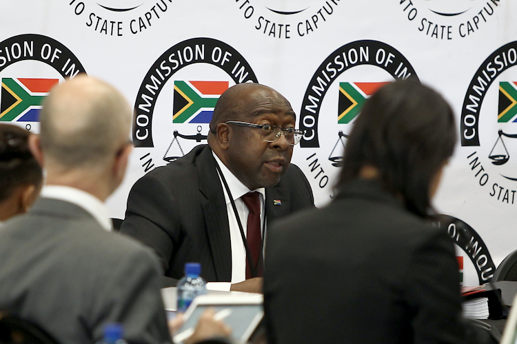 Caption: Nhlanhla Nene, Minister of Finance South Africa. Is seen at the commission of inquiry into state capture that is chaired by the deputy chief justice Raymond Zondo.Picture: Thapelo Morebudi. 3 October 2018