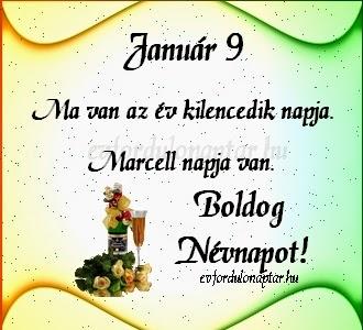 Január 9 - Marcell névnap