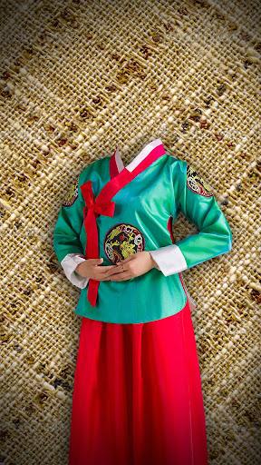 民族衣装フォトモンタージュ