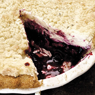 Gluten-Free Blueberry Cheesecake Pie With Lavender Streusel