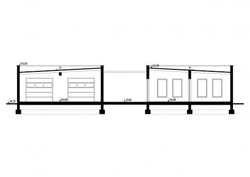G191 - Budynek rekreacyjny z sauną - Przekrój