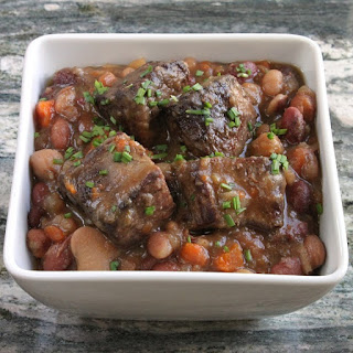 Slow Cooker Beef and Bean Stew.