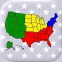 50 US States Map, Capitals & Flags - American Quiz icon