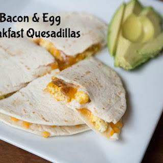 Bacon & Egg Breakfast Quesadillas