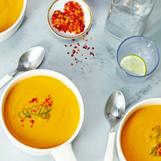 Sweet Potato Soup with Ginger and Vanilla.