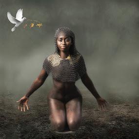 Fallen angel   by Helen Quirke  - Digital Art People ( fallen, jessica, fine art., nude, angel )