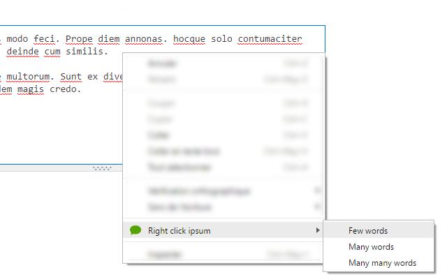 Right click ipsum