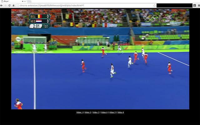 Sporza Rio player Portal