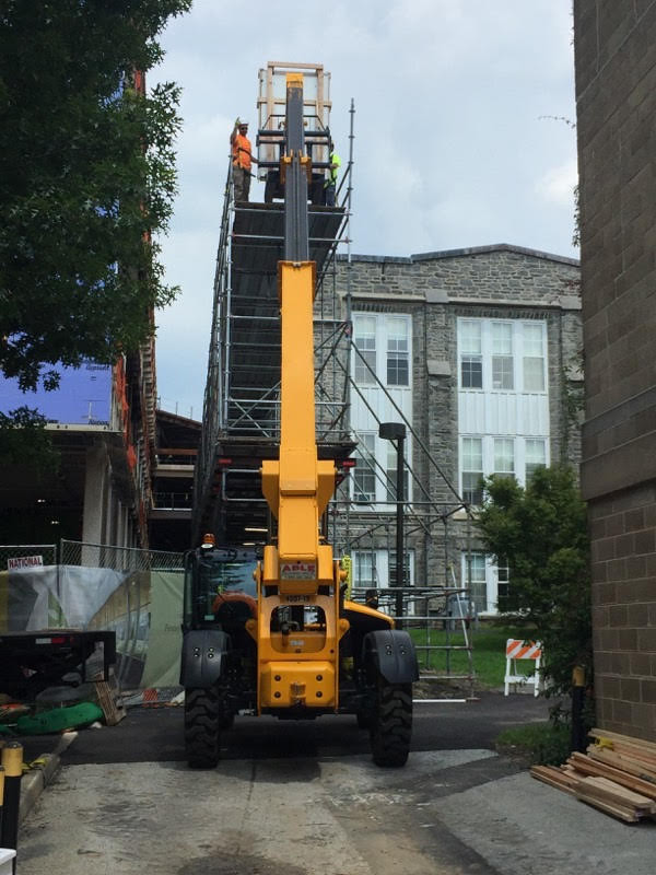 Scaffold, scaffolding, scaffolding, rent, rents, scaffolding rental, construction, ladders, equipment rental, scaffolding Philadelphia, scaffold PA, philly, building materials, NJ, DE, MD, NY, renting, leasing, inspection, general contractor, masonry, 215 743-2200, superior scaffold, electrical, HVAC, swing stage, swings, suspended scaffold, overhead protection, canopy, transport platform, lift, hoist, mast climber, access, buckhoist, Swarthmore college, art, paintings